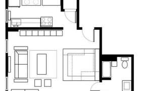 Sample Studio Apartment Layout