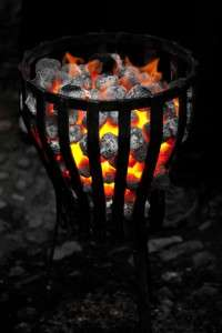 warm-fire-outside