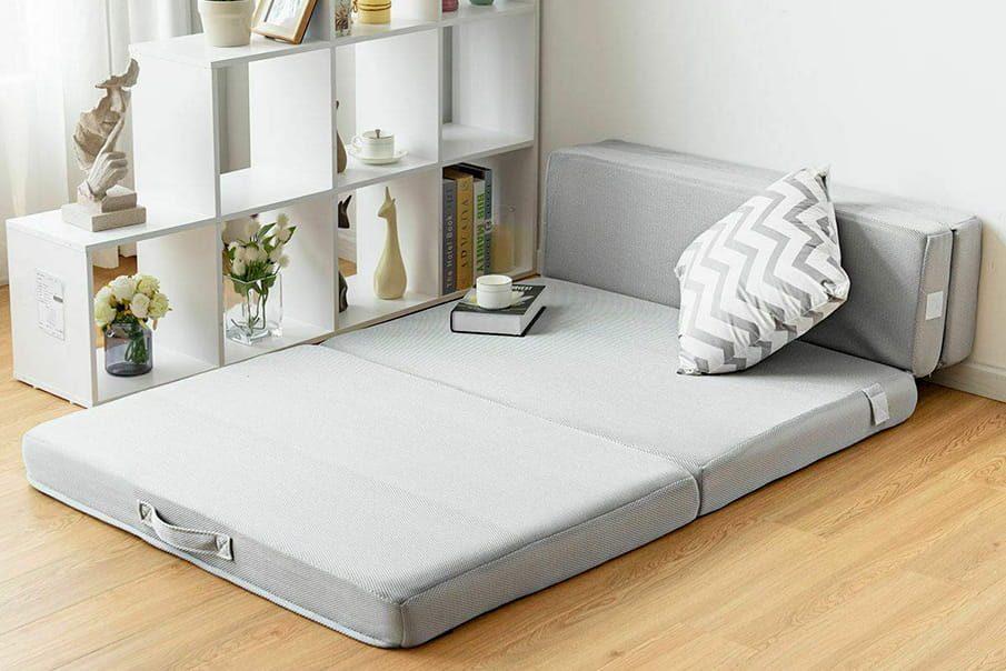 Studio apartment bed option: Tri Fold Mattress
